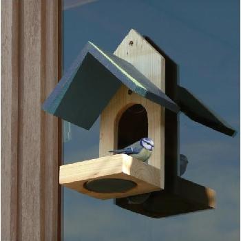 Ptačí krmítko na okno dřevěné