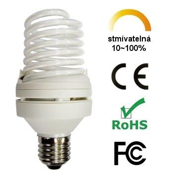 LCD CCFL stmívatelná žárovka 9W teplá bílá E27 Aussmak